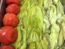 Vegetais grelhados servidos no bufete Fotografia de Stock Royalty Free