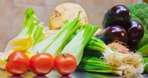 Vegetais indicados no mantimento Imagem de Stock Royalty Free