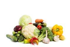 Vegetais isolados em um fundo branco imagem de stock