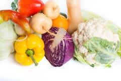 Vegetais isolados em um fundo branco Imagem de Stock Royalty Free