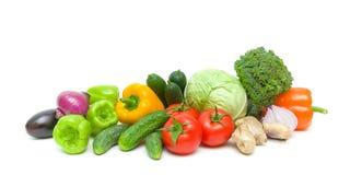 Vegetais isolados em um fundo branco - foto horizontal. Imagem de Stock Royalty Free