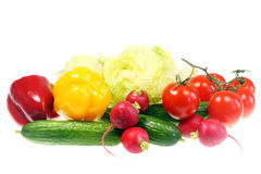 Vegetais isolados no branco imagem de stock royalty free