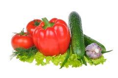 Vegetais isolados no fundo branco Fotos de Stock