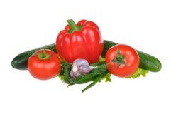 Vegetais isolados no fundo branco Imagens de Stock
