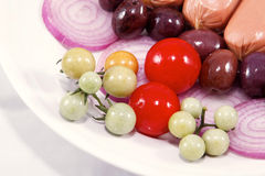Vegetais macro foto de stock