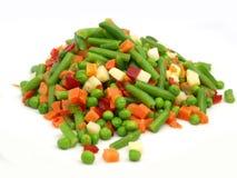 Vegetais misturados congelados Foto de Stock Royalty Free