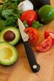 Vegetais misturados na placa de estaca Fotografia de Stock Royalty Free