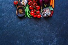 Vegetais não processados frescos Imagens de Stock