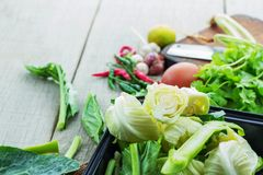 Vegetais na bandeja para cozinhar Imagens de Stock Royalty Free