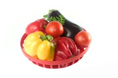 Vegetais na cesta foto de stock royalty free