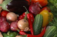 Vegetais na cesta Imagem de Stock Royalty Free