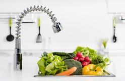 Vegetais na cozinha foto de stock