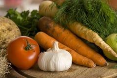 Vegetais na cozinha Fotografia de Stock