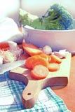 Vegetais na cozinha Imagem de Stock Royalty Free