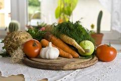 Vegetais na cozinha Imagens de Stock