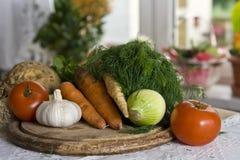 Vegetais na cozinha Foto de Stock Royalty Free