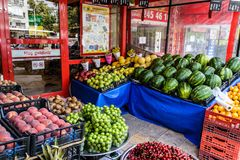 Vegetais na mercearia no país Turquia Imagens de Stock Royalty Free