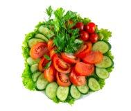 Vegetais na placa Foto de Stock Royalty Free
