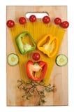 Vegetais na tabela Imagem de Stock Royalty Free