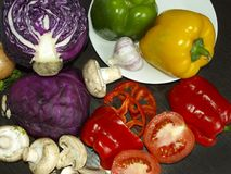 Vegetais na tabela Foto de Stock