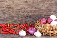 Vegetais na tabela de madeira Foto de Stock