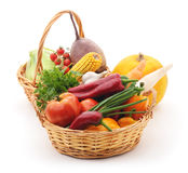 Vegetais nas cestas Imagens de Stock