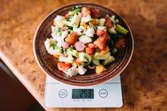 Vegetais nas escalas Fotografia de Stock