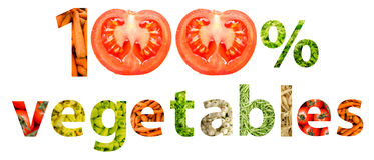 Vegetais naturais de cem por cento Fotografia de Stock