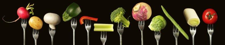 Vegetais no alinhado Imagens de Stock