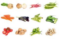 Vegetais no branco Foto de Stock Royalty Free