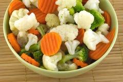 Vegetais no close up da bacia Foto de Stock