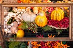 Vegetais no frame de retrato Imagens de Stock Royalty Free