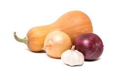 Vegetais no fundo branco Imagem de Stock Royalty Free