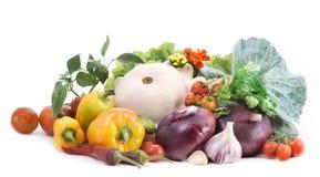 Vegetais no fundo branco Imagens de Stock Royalty Free