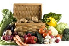 Vegetais no fundo branco Foto de Stock Royalty Free