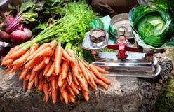 Vegetais no mercado indiano Imagens de Stock