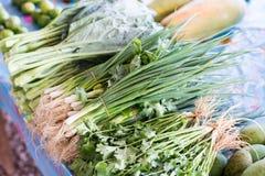 Vegetais no mercado tailandês Imagens de Stock
