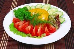 Vegetais no prato Fotografia de Stock