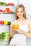 Vegetais no refrigerador Foto de Stock