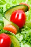 Vegetais no skewer Foto de Stock Royalty Free