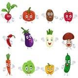 Vegetais nos caráteres Imagem de Stock Royalty Free