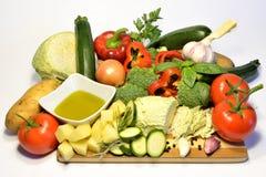 Vegetais orgânicos crus, alimento da dieta saudável Imagens de Stock