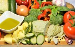 Vegetais orgânicos crus, alimento da dieta saudável Fotografia de Stock Royalty Free