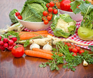 Vegetais orgânicos frescos Imagem de Stock Royalty Free