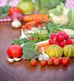 Vegetais orgânicos frescos Imagens de Stock
