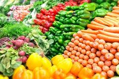 Vegetais orgânicos frescos Fotos de Stock