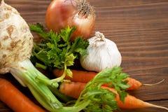 Vegetais orgânicos frescos Fotografia de Stock