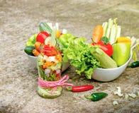 Vegetais orgânicos frescos - alimento saudável do vegetariano Fotos de Stock Royalty Free