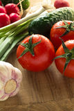 Vegetais orgânicos frescos sortidos Fotografia de Stock