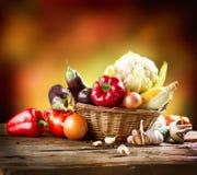 Vegetais orgânicos saudáveis Foto de Stock Royalty Free